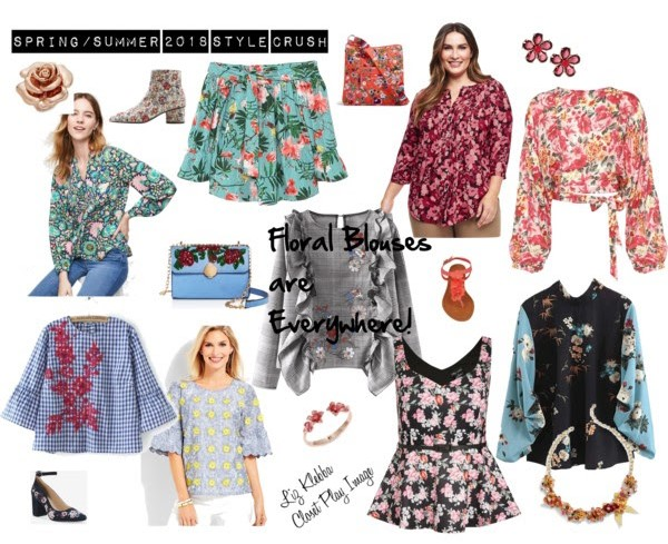 Polyvore of Colorful Floral Blouses and Accessories